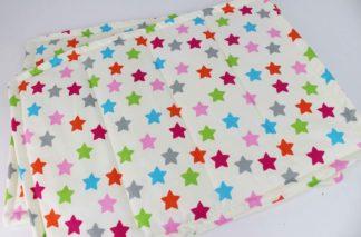 Bandagierunterlagen Creme mit bunten Sternen